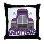 Trucker Gabrielle Throw Pillow