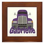 Trucker Gabrielle Framed Tile