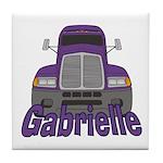 Trucker Gabrielle Tile Coaster