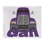 Trucker Gail Throw Blanket
