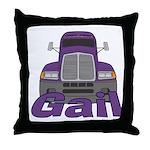 Trucker Gail Throw Pillow