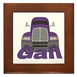 Trucker Gail Framed Tile