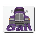 Trucker Gail Mousepad