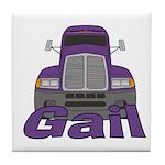 Trucker Gail Tile Coaster