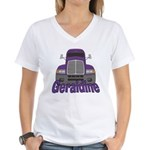 Trucker Geraldine Women's V-Neck T-Shirt