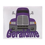 Trucker Geraldine Throw Blanket