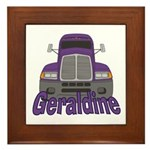 Trucker Geraldine Framed Tile