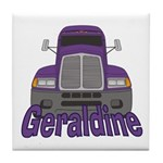 Trucker Geraldine Tile Coaster