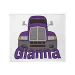 Trucker Gianna Throw Blanket
