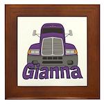 Trucker Gianna Framed Tile