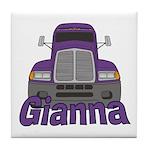 Trucker Gianna Tile Coaster