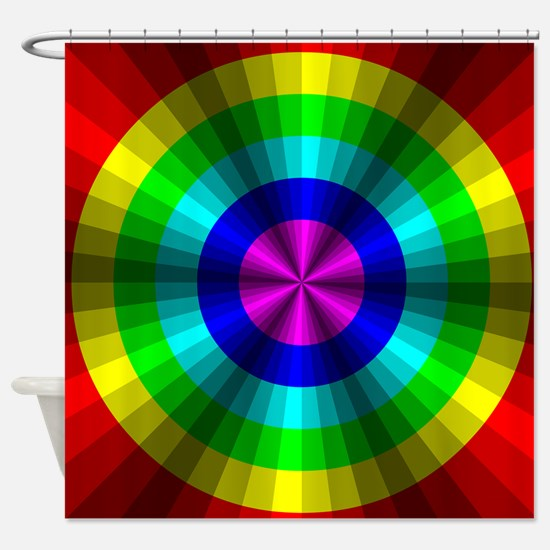 Rainbow Illusion Shower Curtain
