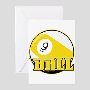 9 Ball Greeting Card