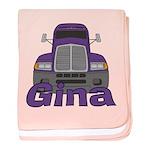 Trucker Gina baby blanket