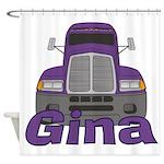 Trucker Gina Shower Curtain