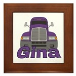Trucker Gina Framed Tile