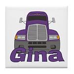 Trucker Gina Tile Coaster