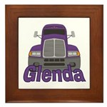 Trucker Glenda Framed Tile