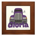 Trucker Gloria Framed Tile