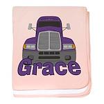 Trucker Grace baby blanket