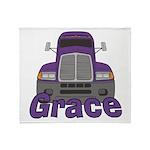 Trucker Grace Throw Blanket