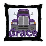 Trucker Grace Throw Pillow