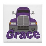 Trucker Grace Tile Coaster
