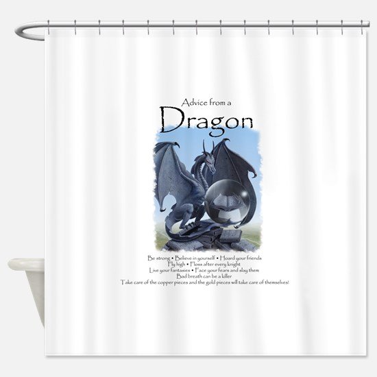 Advice from a Dragon Shower Curtain