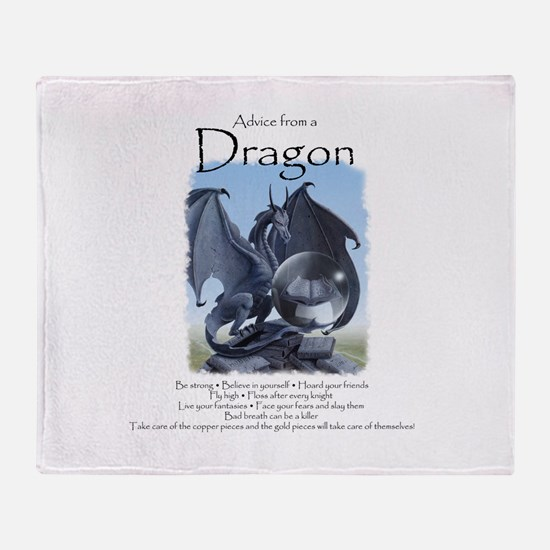 Advice from a Dragon Throw Blanket
