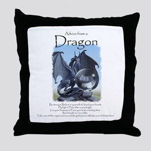 Advice from a Dragon Throw Pillow