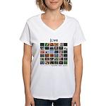 JoVE Articles Women's V-Neck T-Shirt