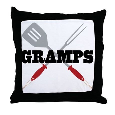 Gramps BBQ Grilling Throw Pillow