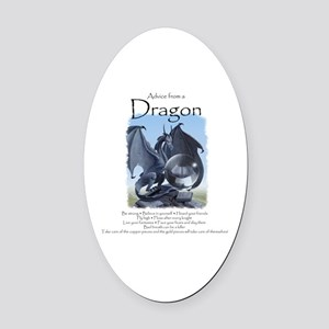 Advice from a Dragon Oval Car Magnet