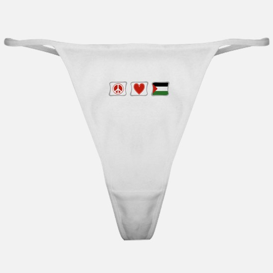 Peace, Love and Palestine Classic Thong