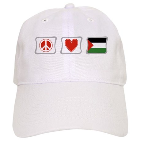 Peace, Love and Palestine Cap