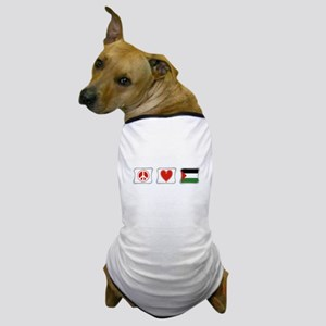 Peace, Love and Palestine Dog T-Shirt