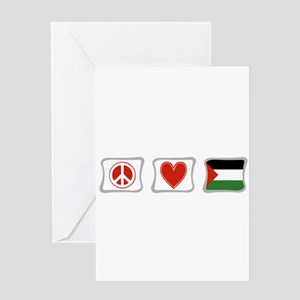 Peace, Love and Palestine Greeting Card