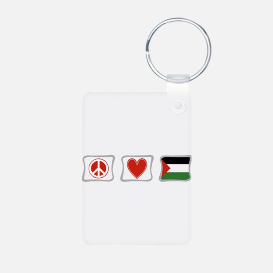 Peace, Love and Palestine Keychains
