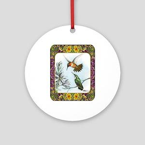 Rufous Hummingbirds Ornament (Round)