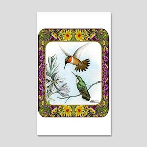 Rufous Hummingbirds 20x12 Wall Decal