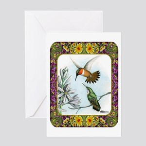 Rufous Hummingbirds Greeting Card