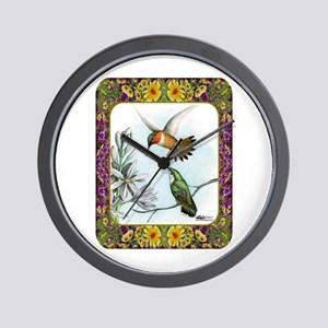 Rufous Hummingbirds Wall Clock