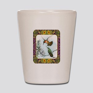 Rufous Hummingbirds Shot Glass