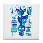 Blue Guys READ Tile Coaster