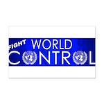 WorldControl Rectangle Car Magnet