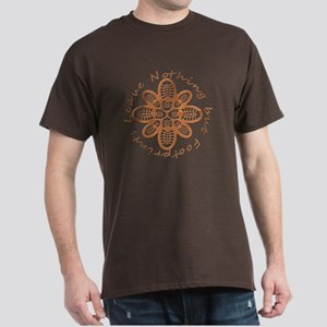 Wood Grain Boot Footprints Dark T-Shirt