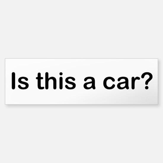 Cute Smart car Sticker (Bumper)