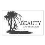 Beauty and the Beach Sticker (Rectangle)