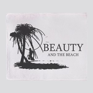 Beauty and the Beach Throw Blanket