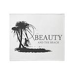 Beauty and the Beach Throw Blanket
